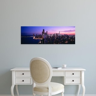 Easy Art Prints Panoramic Images's 'City at the lakeside, Lake Michigan, Gold Coast, Chicago, Illinois' Canvas Art