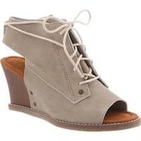 Bearpaw Women's Aracelli Wedge Shootie Linen Suede