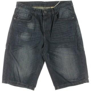 Sean John Mens Dark Wash Casual Shorts - 34
