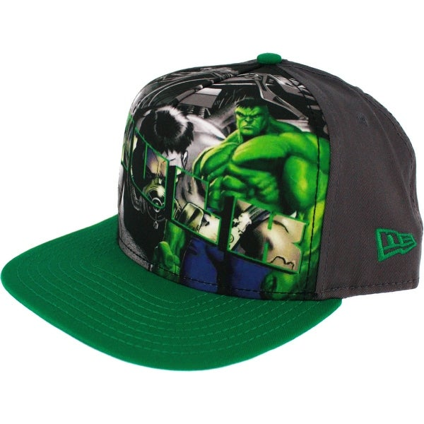 6d575ac9c70bd Shop Incredible Hulk Hero Post Snapback Cap - Free Shipping On Orders Over   45 - Overstock - 18690222