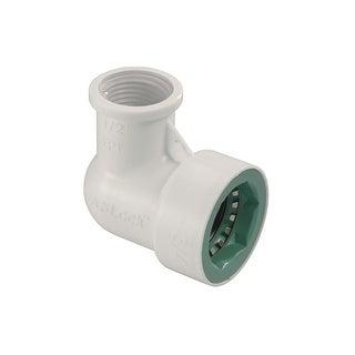 """Orbit 34775 PVC Lock Female Pipe Thread Elbow, 3/4"""" Dia x 1/2"""" Dia"""