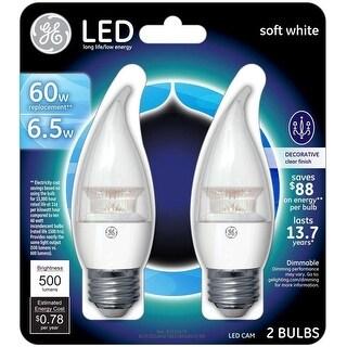 GE 34733 60W Equivalent Decorative LED light bulb, Soft White