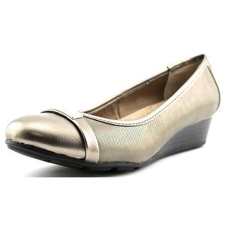 Giani Bernini Ambir Open Toe Leather Wedge Heel