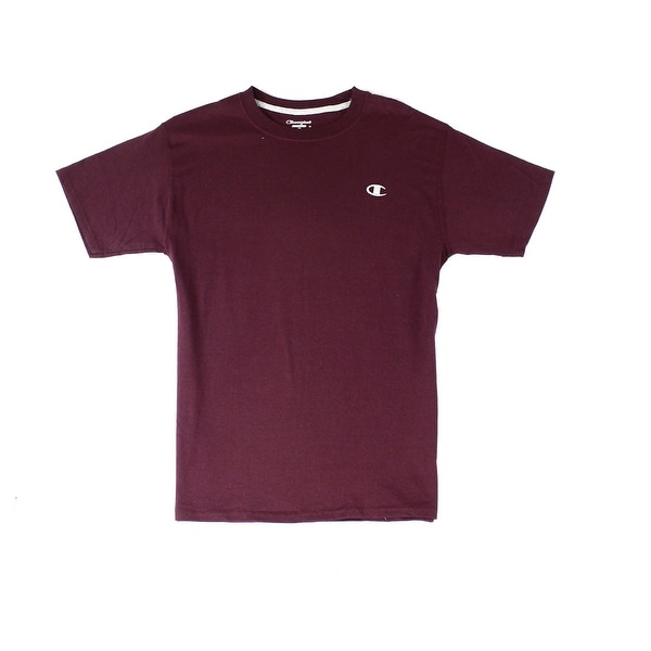 ccd36e33 Shop Champion NEW Burgundy Red Mens Size Medium M Crewneck Logo-Front Tee T- Shirt 006 - Free Shipping On Orders Over $45 - Overstock - 19564690
