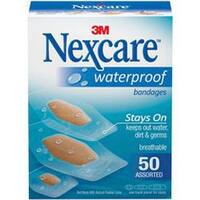 Assorted Sizes - Nexcare Waterproof Bandages 50/Pkg