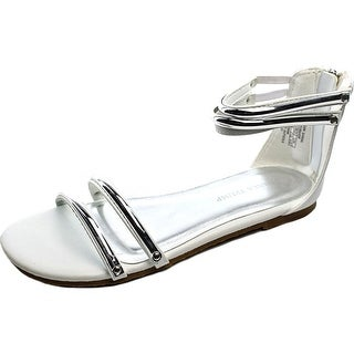 Ivanka Trump Golden Open Toe Synthetic Sandals