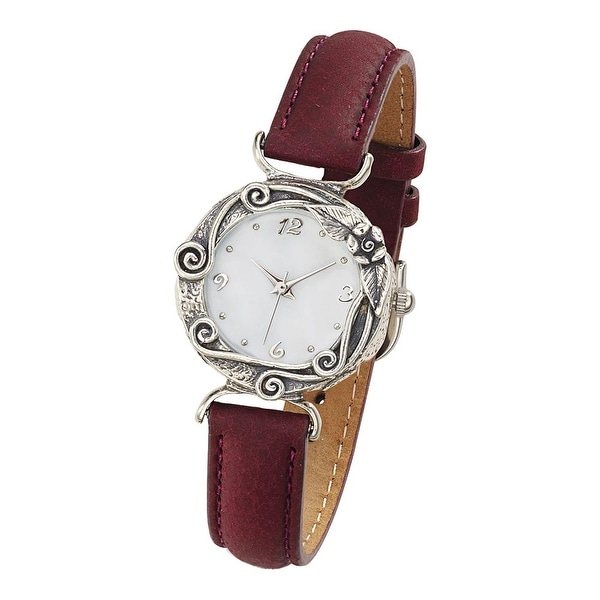 Women's Westbury Gardens Sterling Silver and Leather Watch