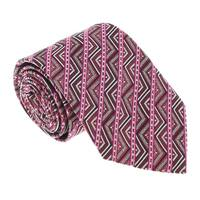 Missoni U5098 Pink/Red Graphic 100% Silk Tie - 60-3