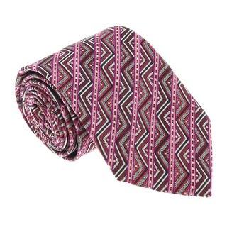 Missoni U5098 Pink/Red Graphic 100% Silk Tie - 60-3