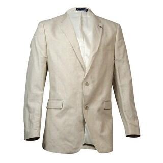 Tommy Hilfiger Men's Linen Blend Sport Coat (44L, Tan) - Tan - 44l