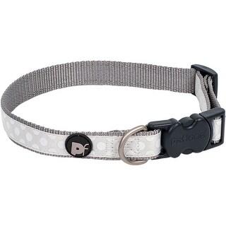 """Large-Light Grey - Petface Tonal Dots Collar 19"""" To 28"""""""