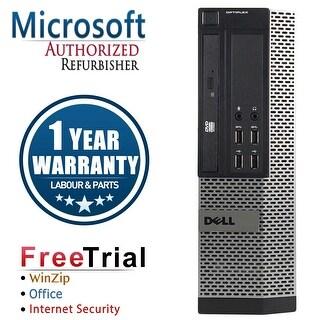 Refurbished Dell OptiPlex 7010 SFF Intel Core I5 3450 3.1G 4G DDR3 250G DVD Win 7 Pro 64 Bits 1 Year Warranty - Black