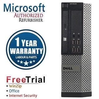 Refurbished Dell OptiPlex 9010 SFF Intel Core i5 3450 3.1G 16G DDR3 320G DVD WIN 10 Pro 64 Bits 1 Year Warranty - Black
