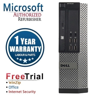 Refurbished Dell OptiPlex 9010 SFF Intel Core I5 3450 3.1G 4G DDR3 250G DVD Win 7 Pro 64 Bits 1 Year Warranty - Black