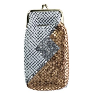 CTM® Women's Mesh Pattern Cigarette Case with Lighter Pocket & Kiss Lock Closure - one size