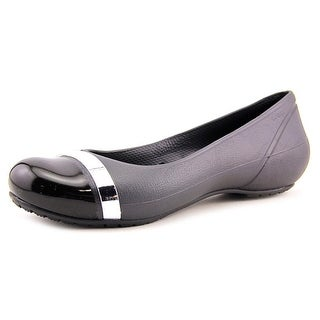 Crocs Cap Toe Mirror Women Cap Toe Synthetic Black Flats