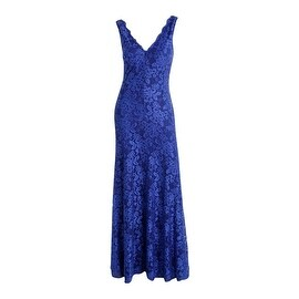 Betsy & Adam Womens Lace Mermaid Evening Dress - 10