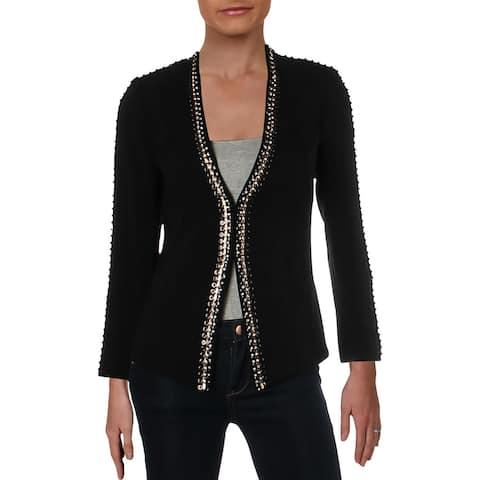Kobi Halperin Womens Ken Collarless Blazer Embellished Suit Separate