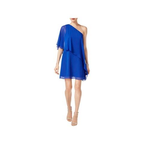 Vince Camuto Womens Cocktail Dress One Shoulder Asymmetric