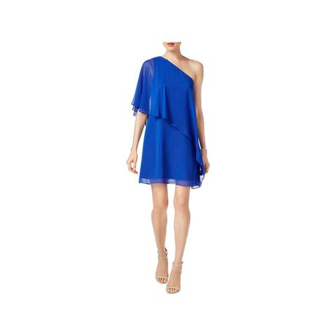f242d527aa9 Vince Camuto Womens Cocktail Dress One Shoulder Asymmetric