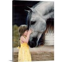 Lesley Harrison Premium Thick-Wrap Canvas entitled Love Is Patient - Multi-color