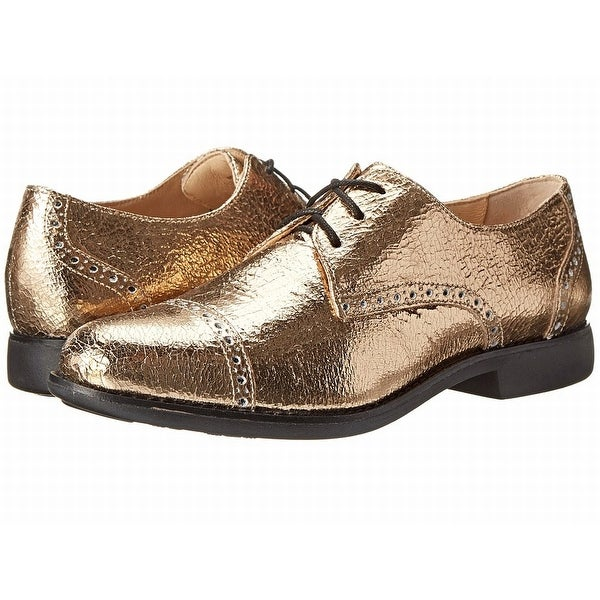 Cole Haan NEW Gold Shoes Size 5B Solid Gramercy Oxfords Leather