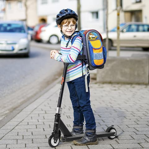 Goplus Aluminum Portable Kick Scooter for Kids Children w/PU Wheels