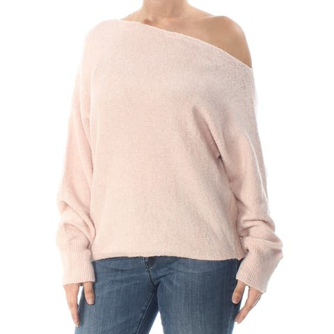 GUESS Womens Pink Catrina Long Sleeve Sweater Size: L