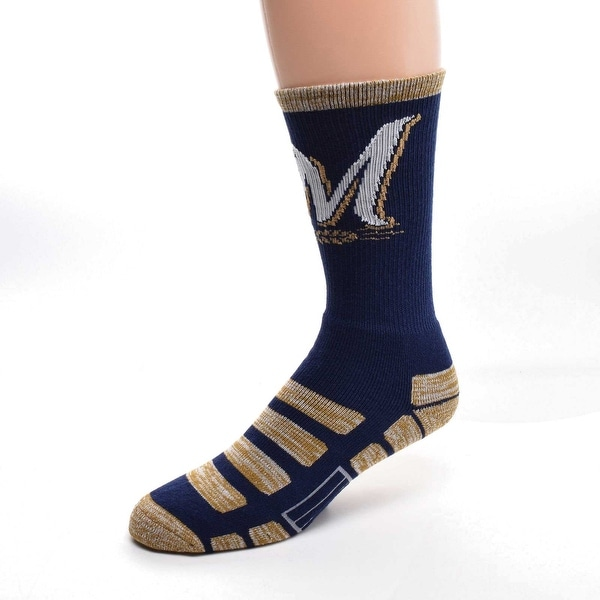 For Bare Feet Milwaukee Brewers Patches Socks