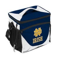 Logo Brands 190-63-1 Notre Dame Navy & White 24 Can Cooler