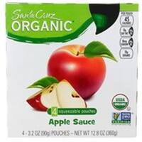 Santa Cruz Organic Apple Sauce Original 4 Pouches (Pack of 6)