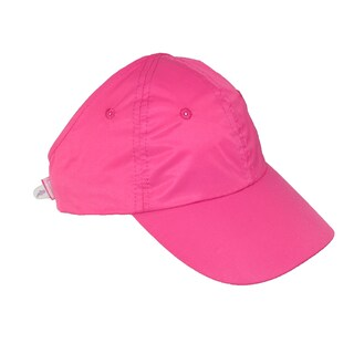 CTM® Women's Microfiber Sport Ponytail Hair Holder Baseball Hat