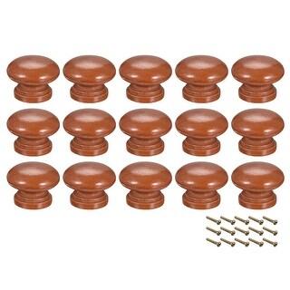Round Pull Knob Handle 33mm Dia Cabinet Furniture Bedroom Kitchen Drawer 15pcs - 35mmx25mm(D*H)-15pcs