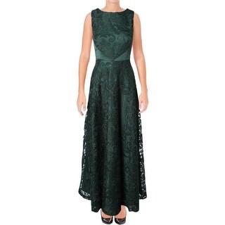 Tahari ASL Womens Formal Dress Lace Satin - 10