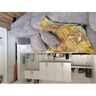 Serta Carlisle 78-inch Sofa with Pleated Arms