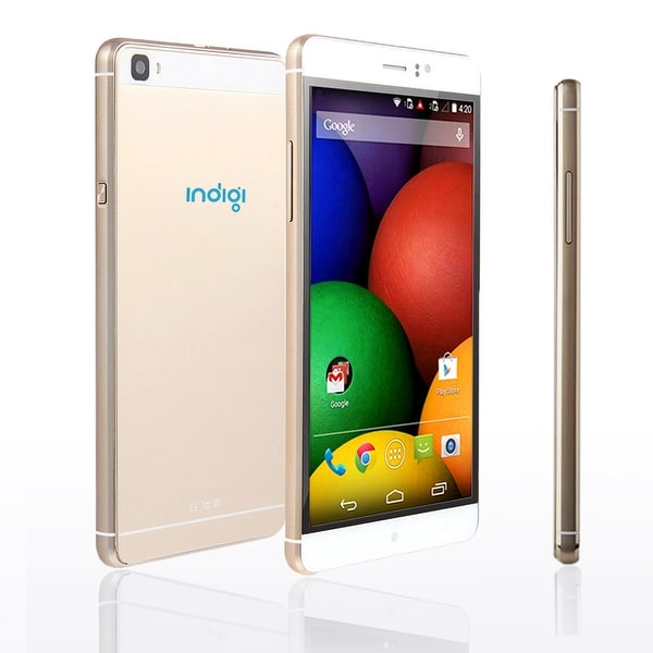 Indigi® 6.0inch Factory Unlocked 3G Smartphone Android 5.1 Lollipop SmartPhone + WiFi + Bluetooth Sync + Google Play - GOLD