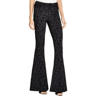Alice + Olivia Womens Bootcut Pants Textured Flat Front
