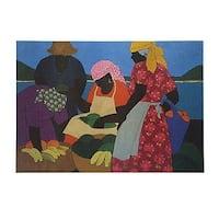 ''West Indian Market'' by Gloria Lynn African American Art Print (18 x 24 in.)