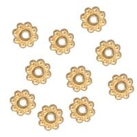 TierraCast Fine Bright 22K Gold Plated Pewter Daisy Spacer Beads 6mm (10)