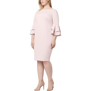 4db2705449 Calvin Klein Womens Plus Party Dress Bell Sleeve Shimmer · Quick View
