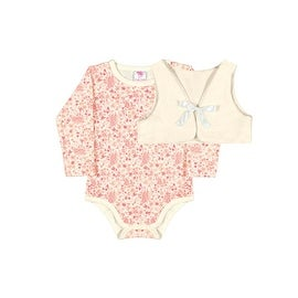Baby Girl Long Sleeve Bodysuit Floral for Newborn Infant Pulla Bulla 3-12 Months
