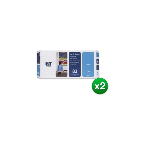 HP 83 Cyan DesignJet UV Printhead & Printhead Cleaner (C4961A) (2-Pack)