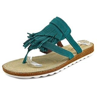 Hush Puppies Bryson Jade Women Open Toe Synthetic Blue Thong Sandal