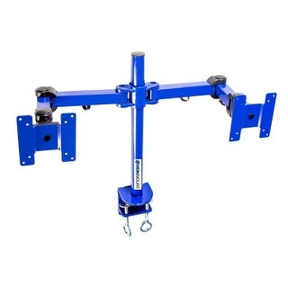 MonMount Dual LCD Monitor Stand Desk Clamp Holds Up to 24-Inch LCD Monitors, Blue (LCD-194BL)
