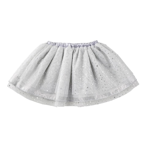 "13"" Silver Tulle Tutu Skirt for 6 to 18 Months"