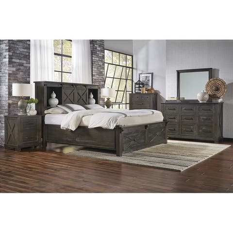 Simply Solid Sharla Solid Wood 4-piece Storage Bedroom Collection