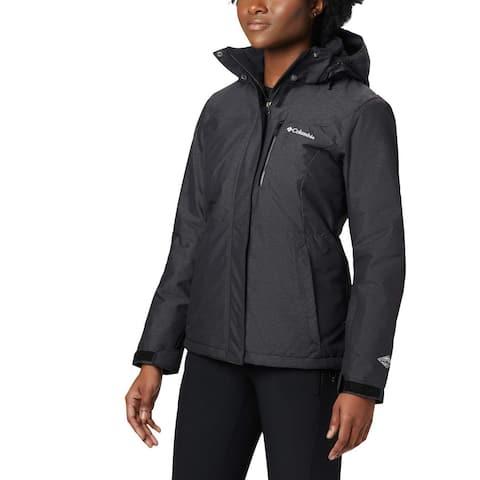 Columbia Womens Coat Gray Size 1X Plus Alpine Action Oh Waterproof