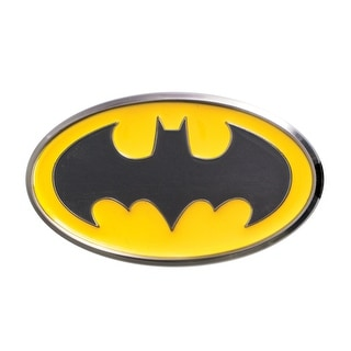 "Batman Logo Colored 1"" Pewter Lapel Pin: Yellow"