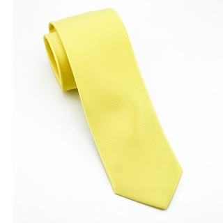 Men's 100% Silk Yellow Tie