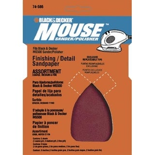 Black & Decker BDAMX-5 Mouse Assorted Sandpaper, 5 Sheet